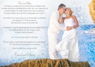 Aruba Destination Wedding - Aruba Wedding Photographer