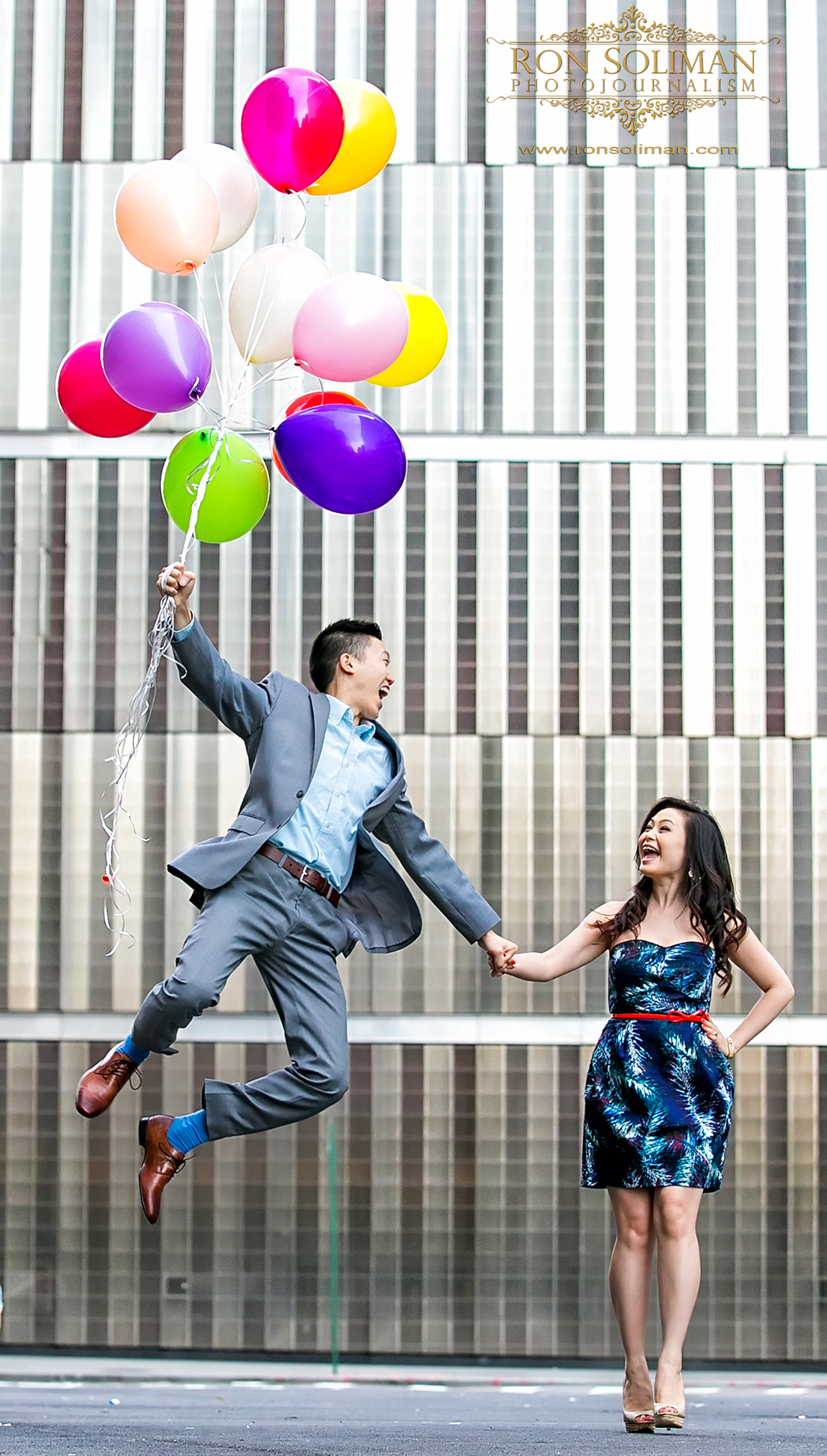 balloons for engagement photos