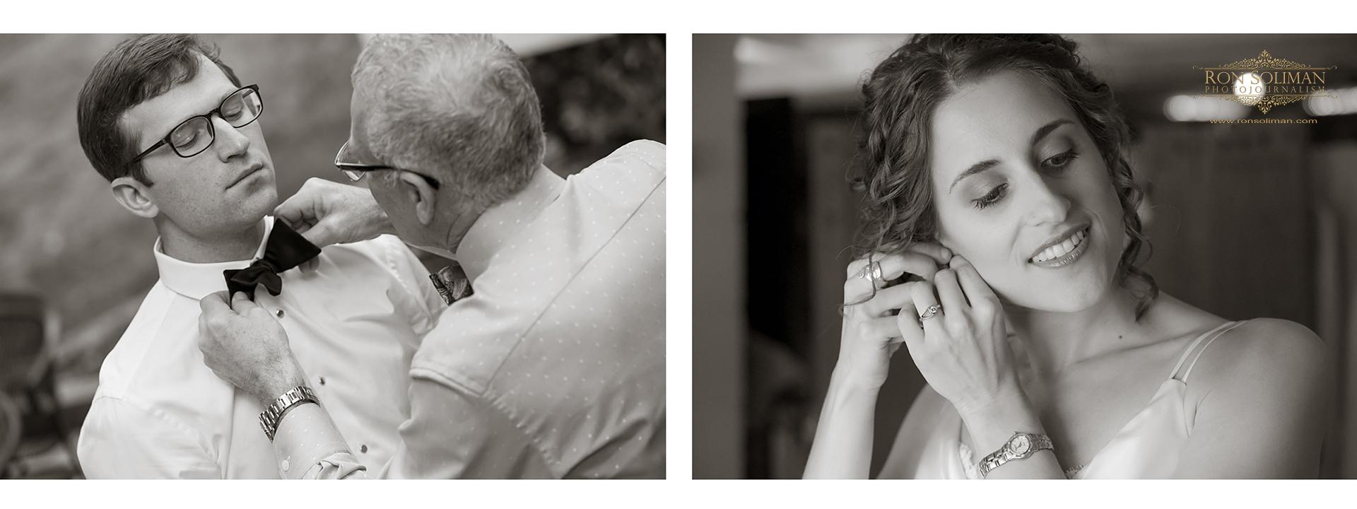 Bride and groom preparation photos