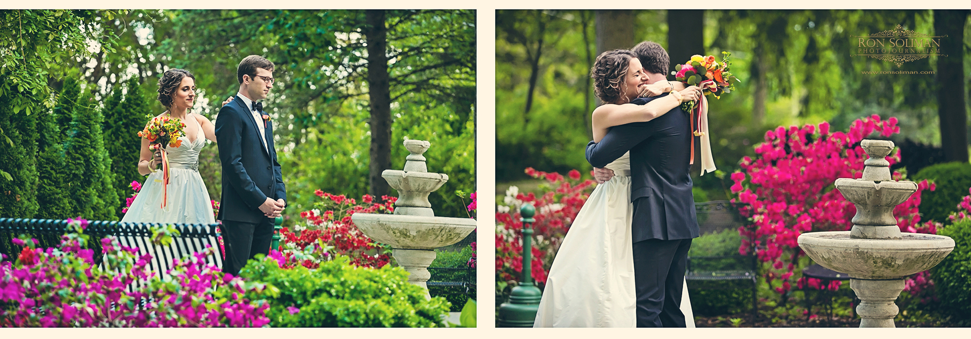 First look or first glimpse wedding