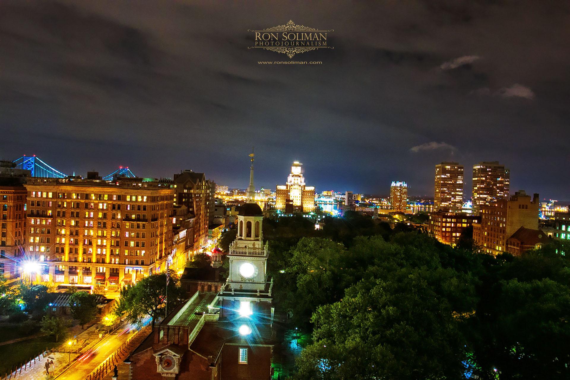 VILLAGE CLUB WEDDING Philadelphia skyline