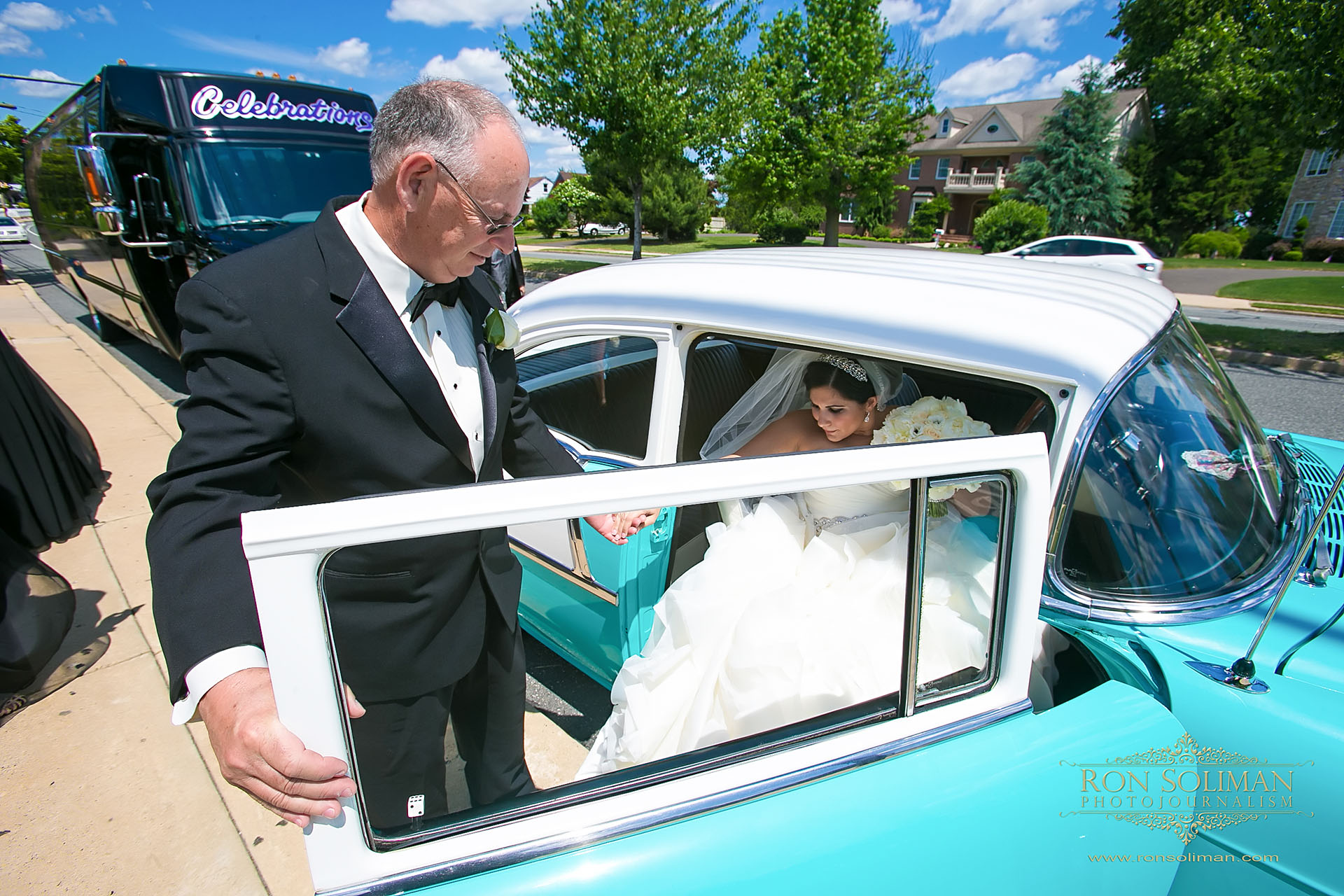 1955 Chevy wedding car