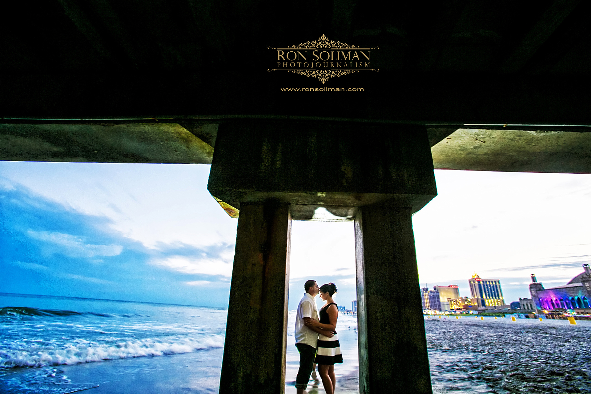 atlantic city board walk engagement photos