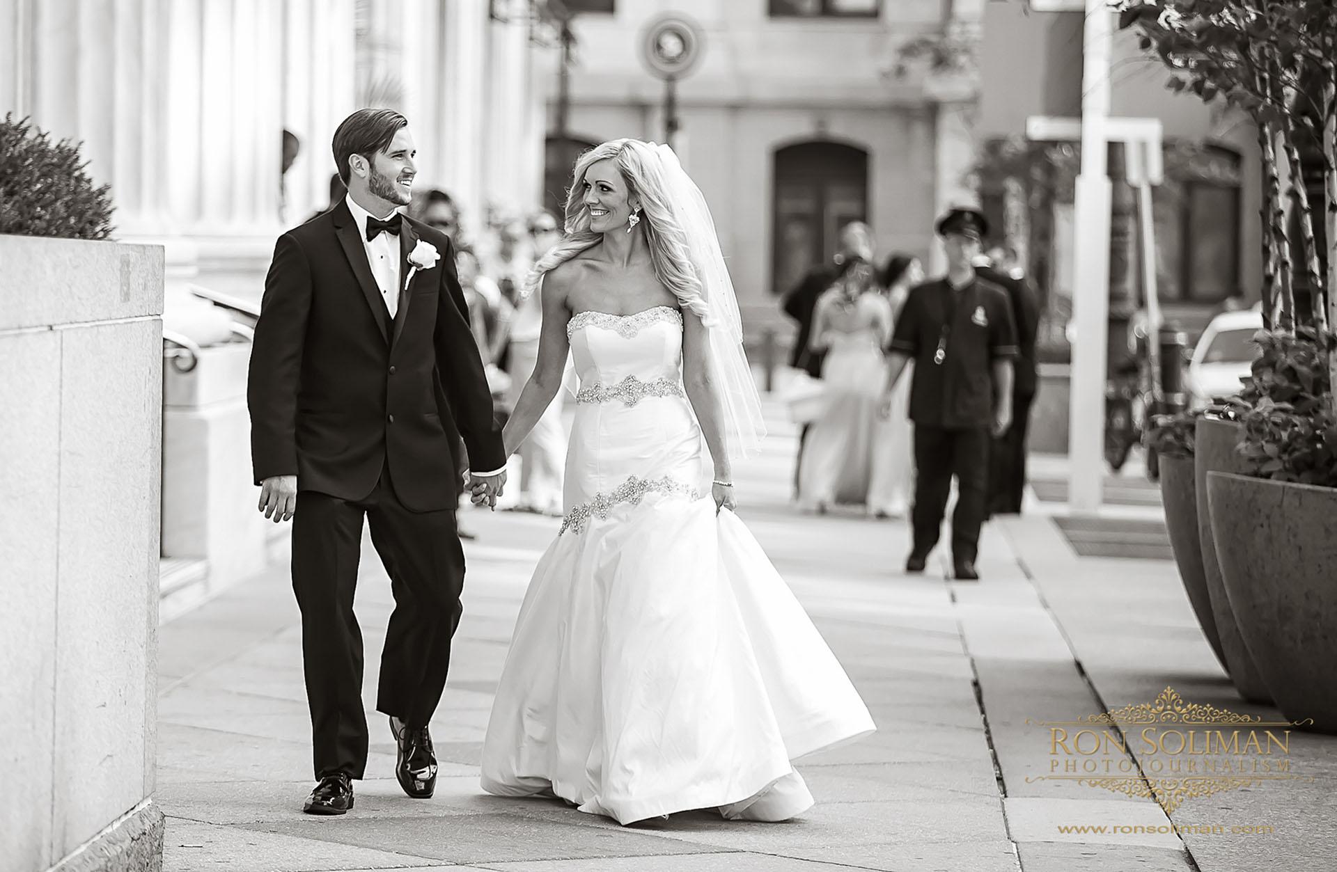 bride and groom at Philadelphia City Hall