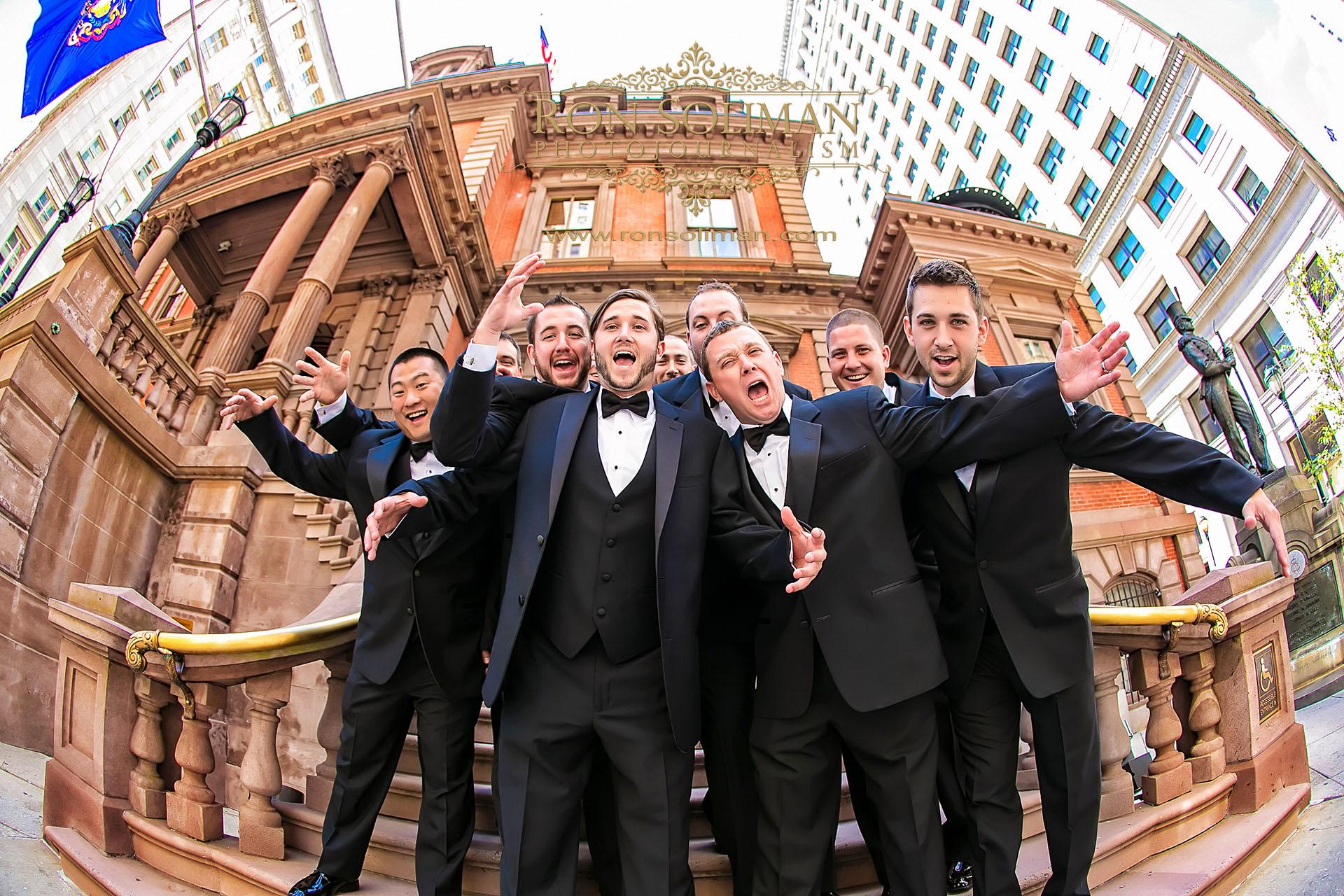 groomsmen at philadelphia union leage
