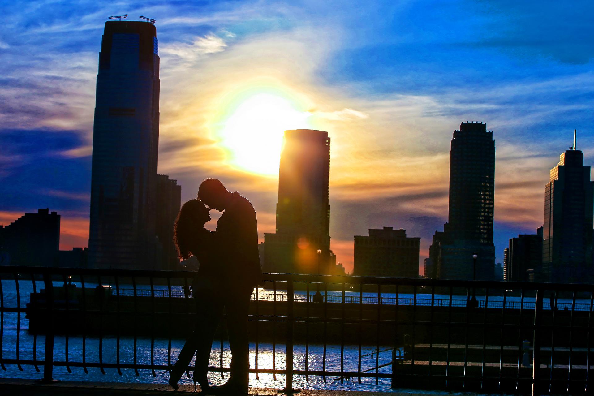NEW YORK CITY sunset ENGAGEMENT photos