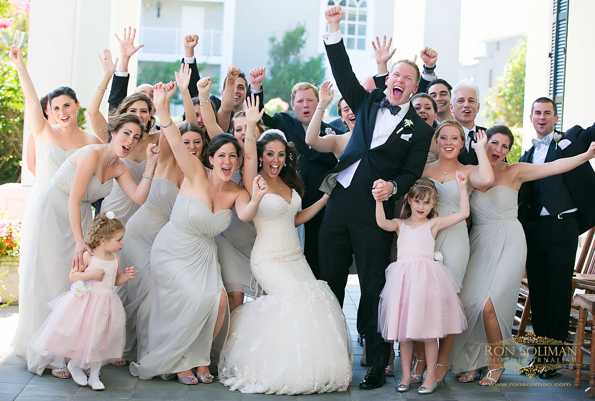 bridal party photo at CONGRESS HALL in CAPE MAY WEDDING