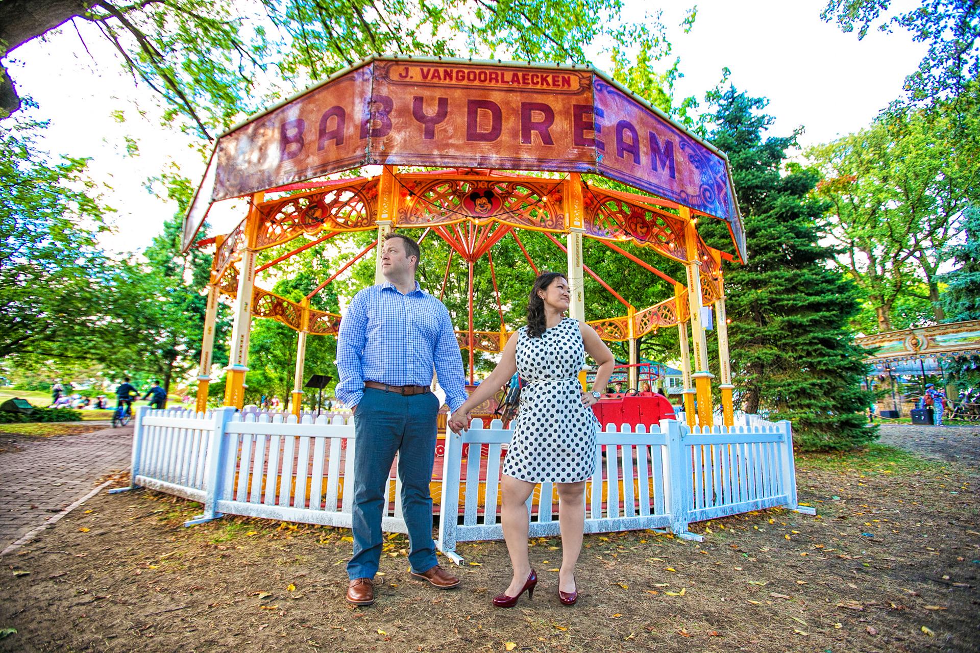 Bronx zoo wedding photo