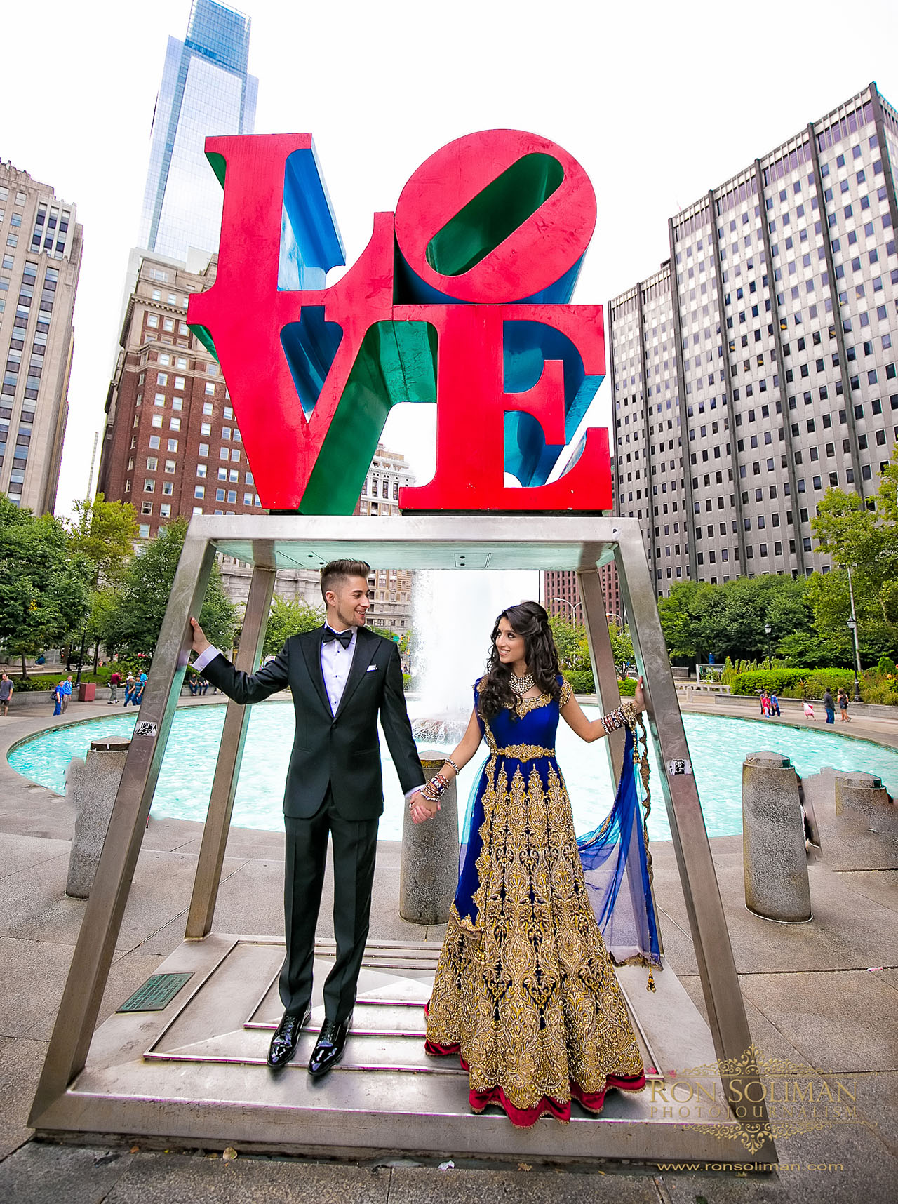 Indian wedding Philadelphia Love Park