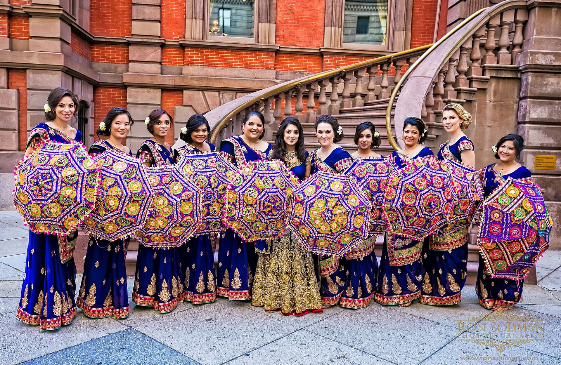 Indian wedding bridal party