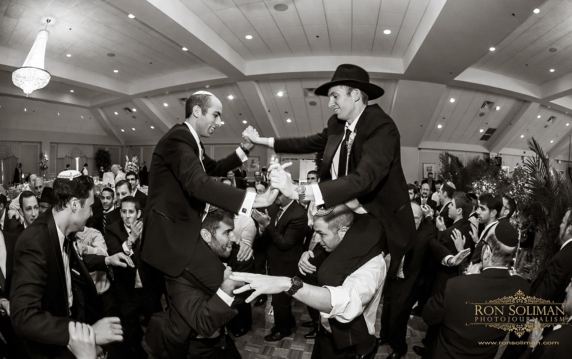 horah at orthodox jewish wedding