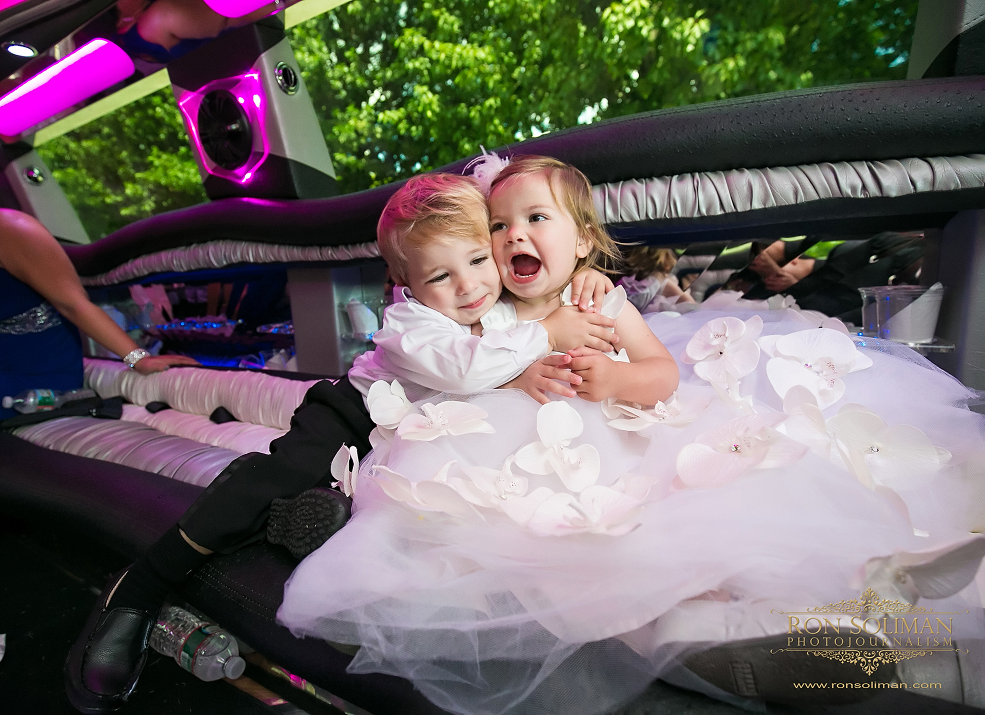 funny flower girl and ring bearer