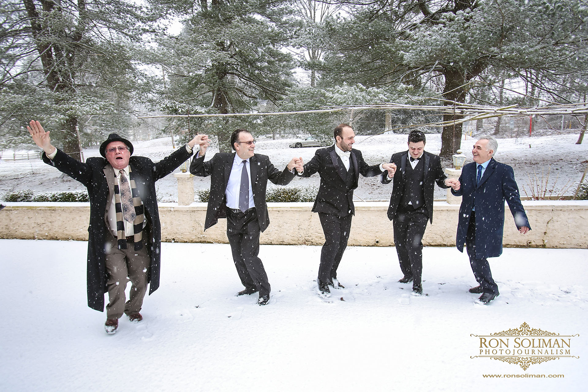 snow wedding day