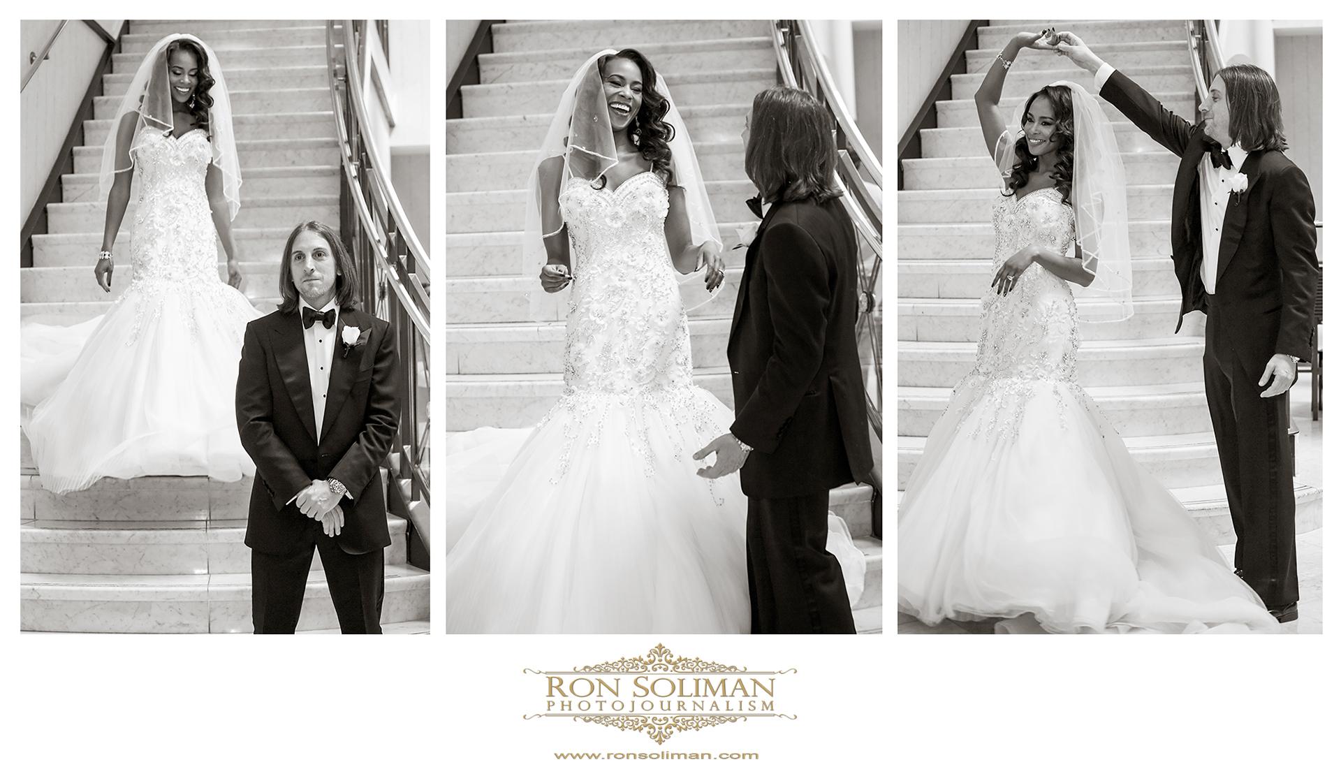 Ritz Carlton First look wedding photos