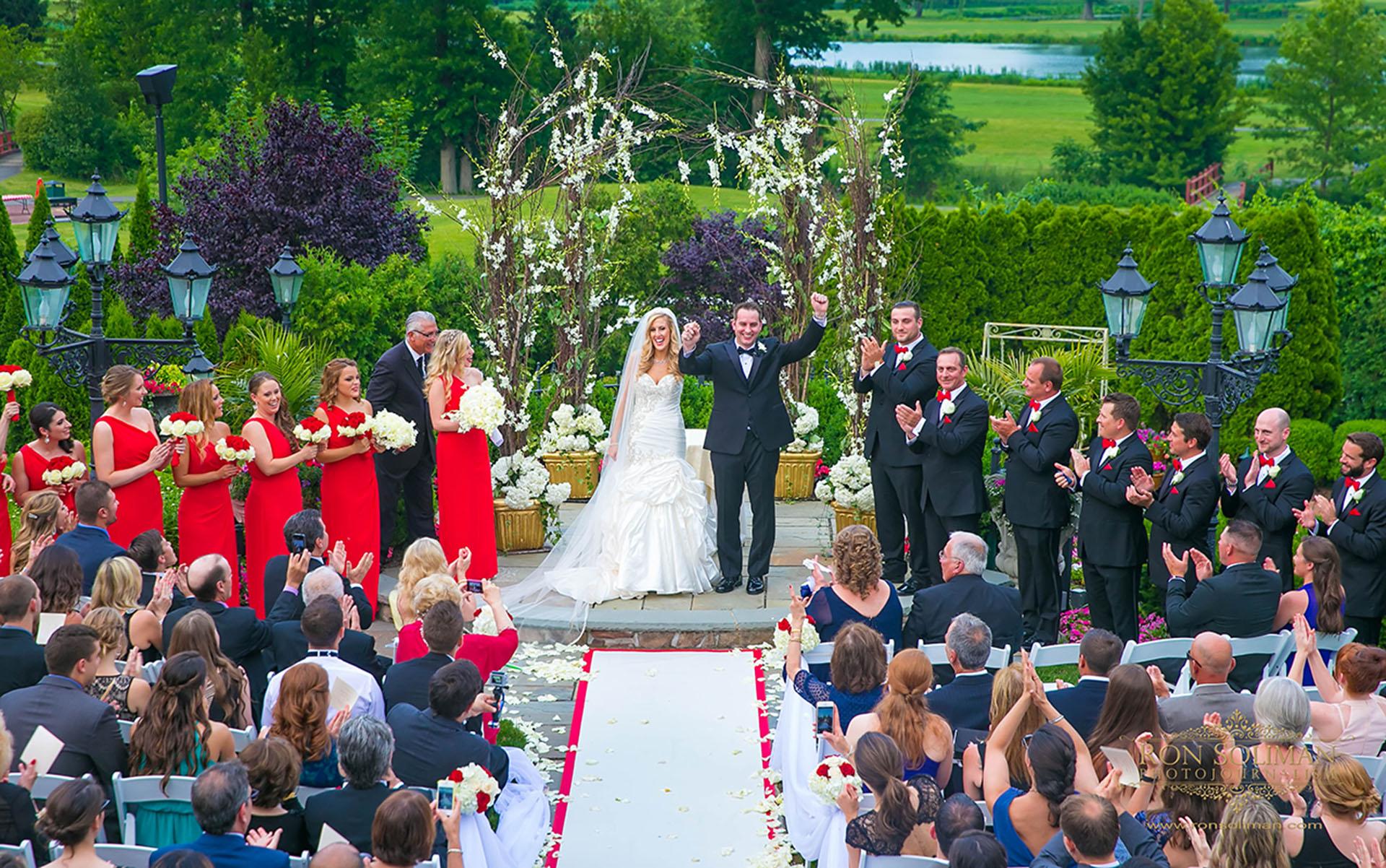 park savoy outdoor wedding ceremony
