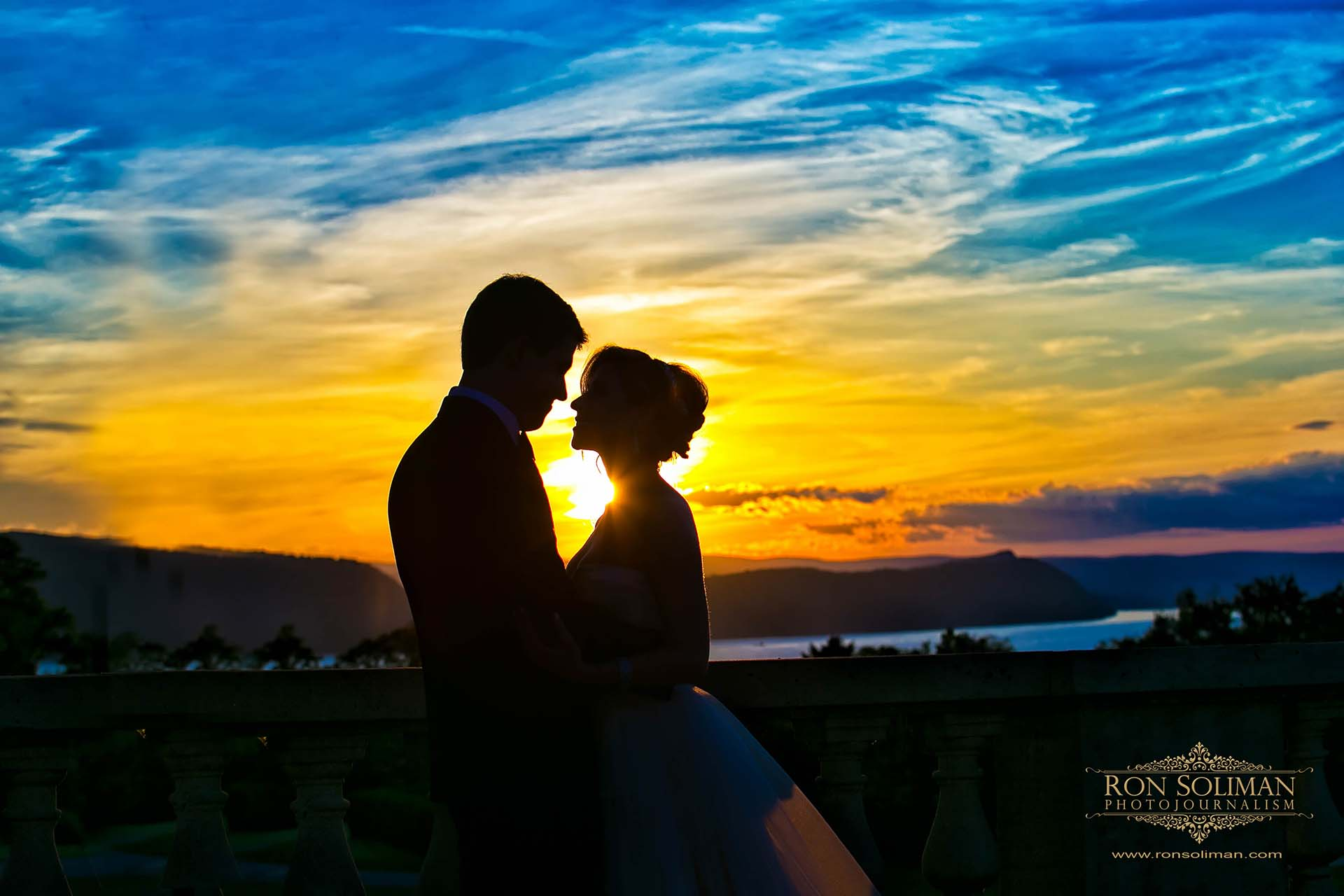 Sunset at Sleepy Hollow wedding
