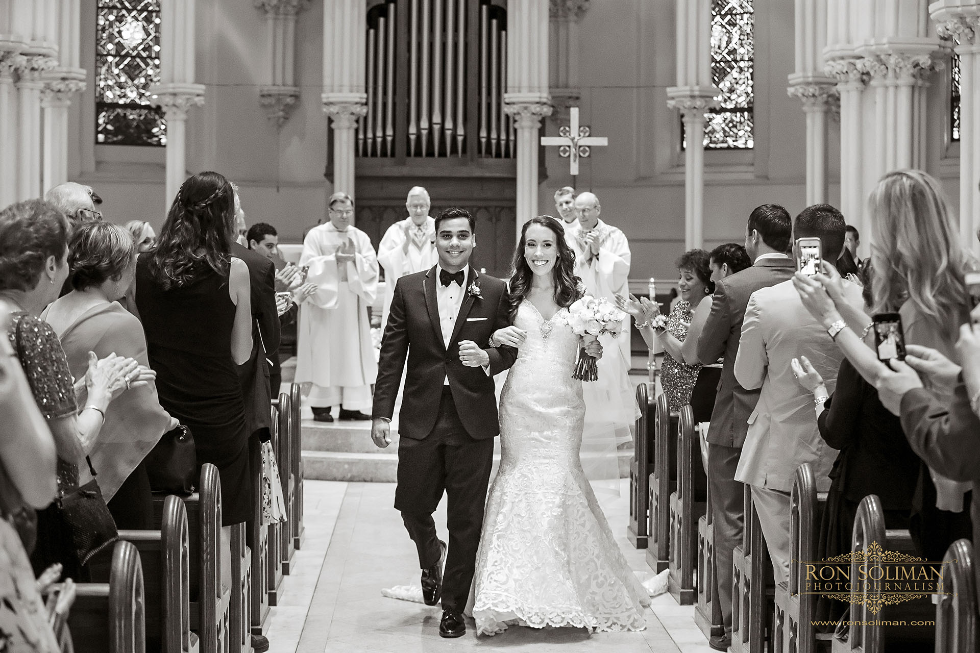 Best wedding photos at St. Thomas of Villanova Church