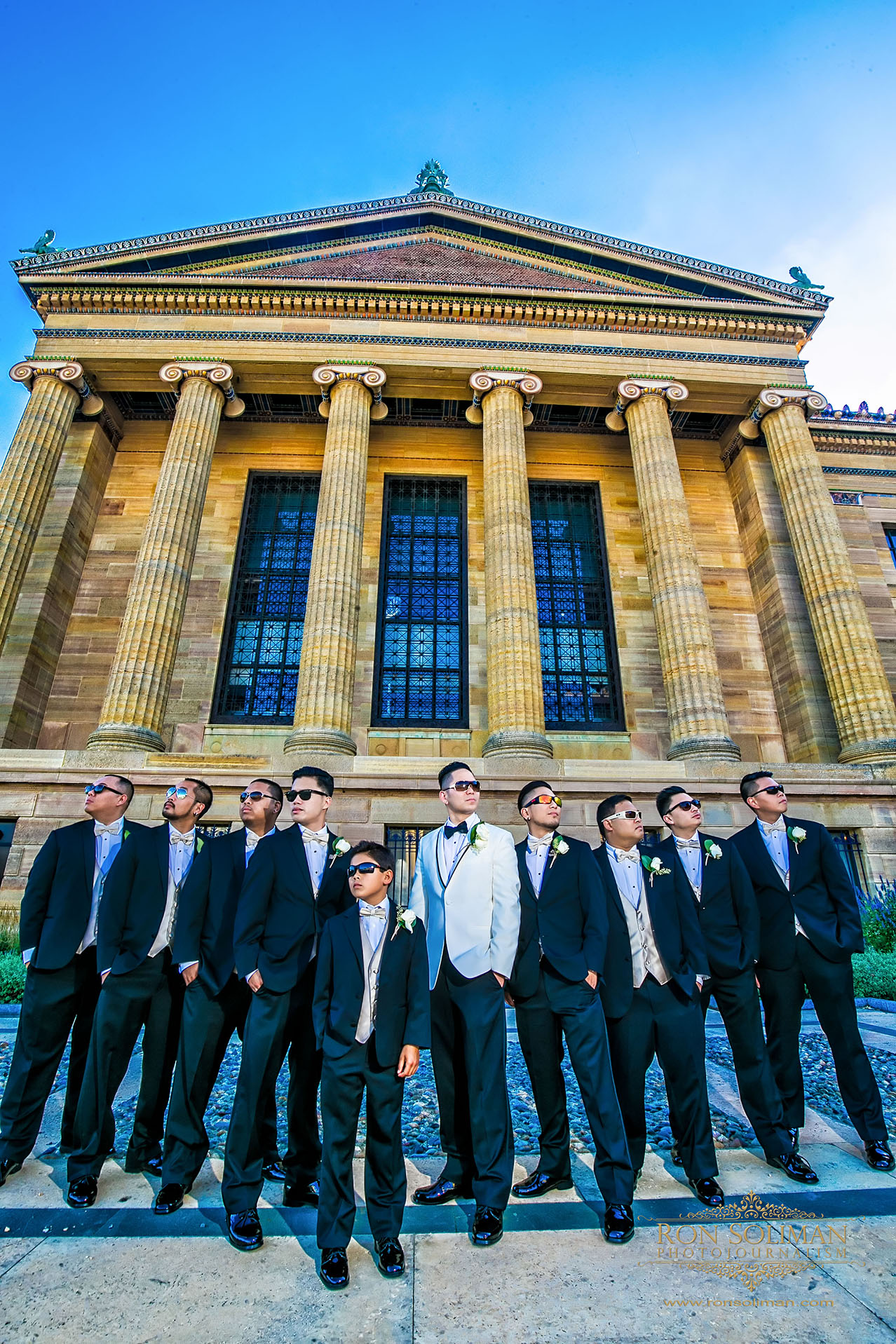 philadelphia museum of art wedding photos