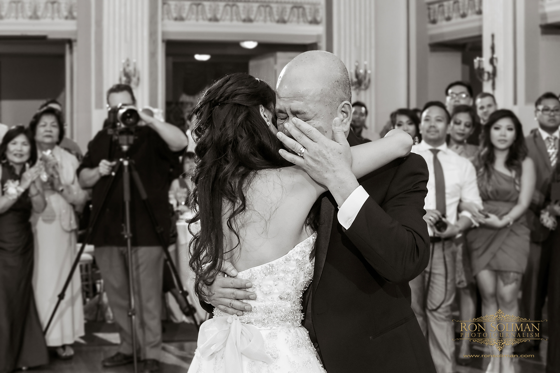 Emotional father daughter dance on her wedding day