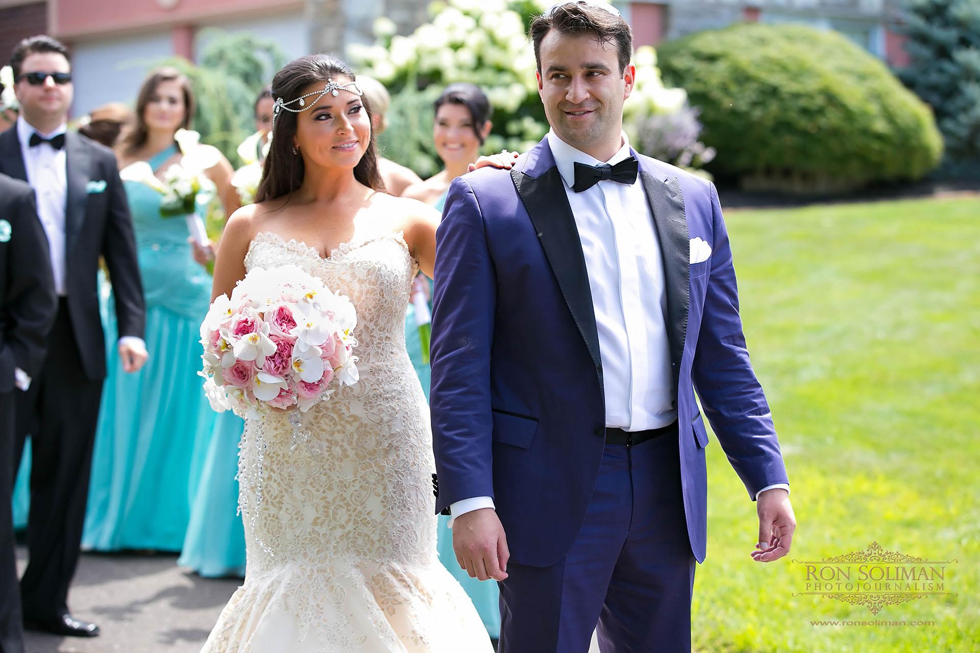 Romantic wedding first look