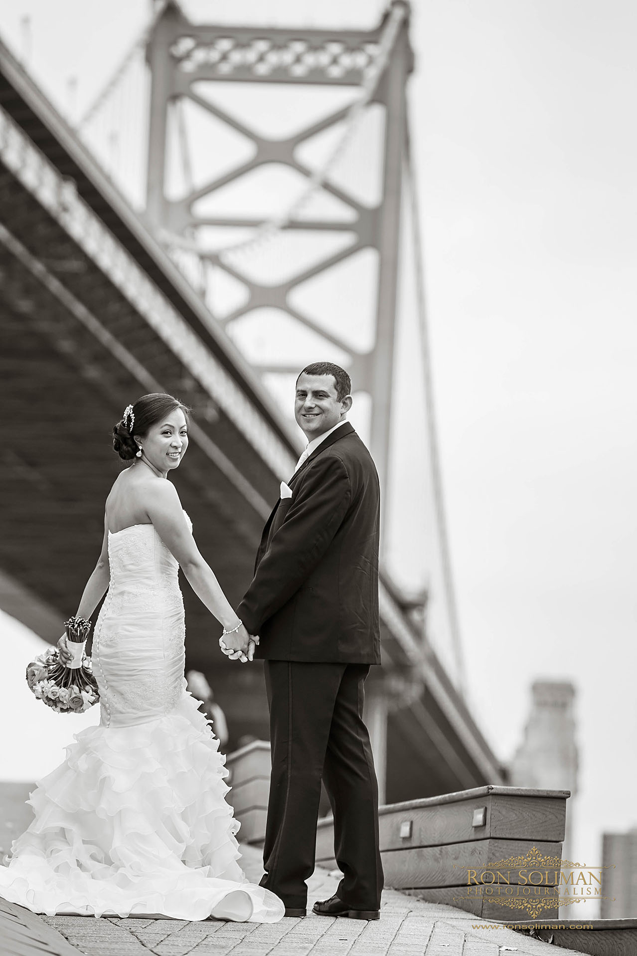 Ben Franklin Bridge Wedding photos