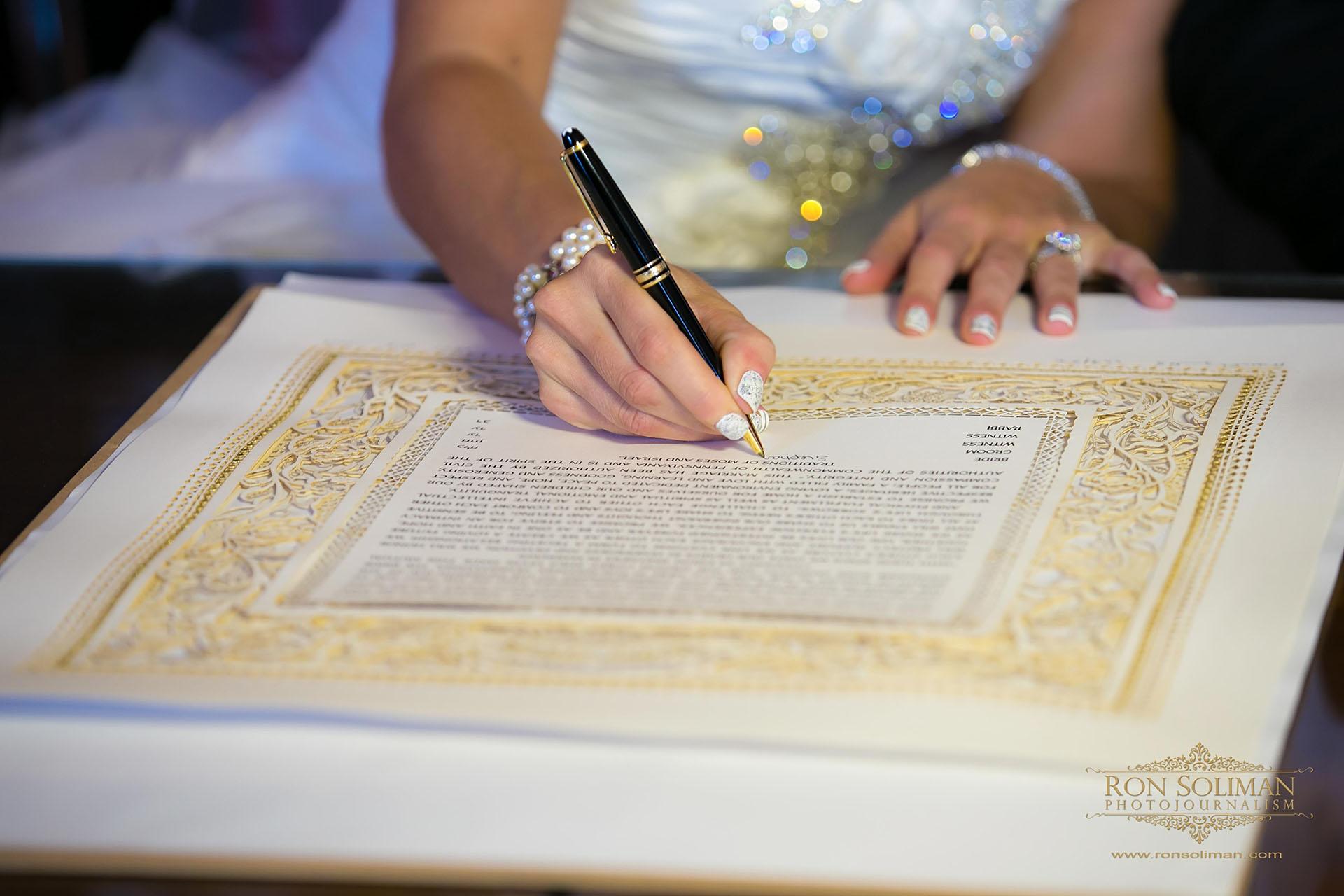 Ketubah signing wedding photos