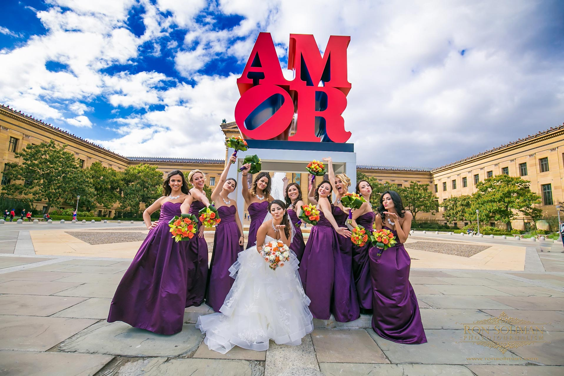 Philadelphia Art Museum wedding photos