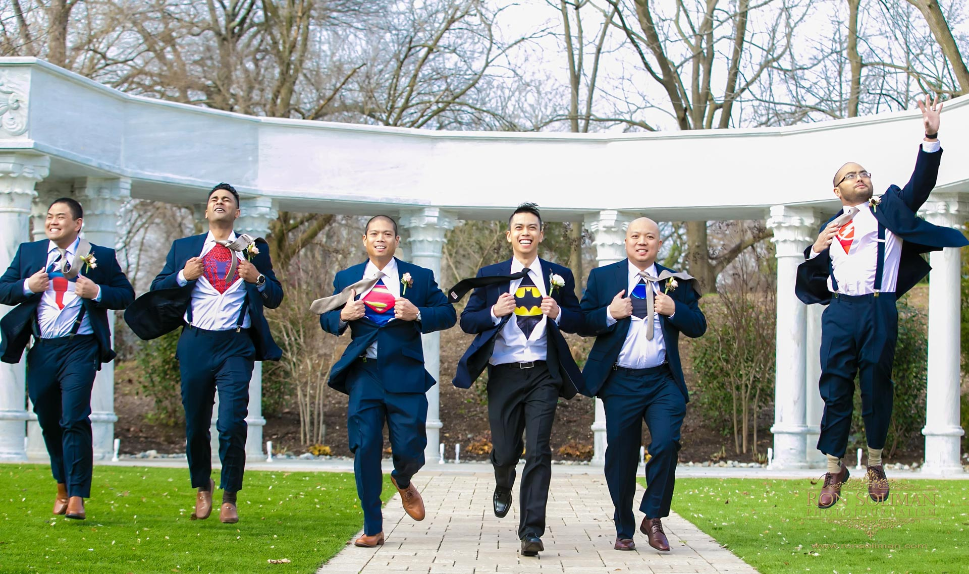 Best Superhero groomsmen photos