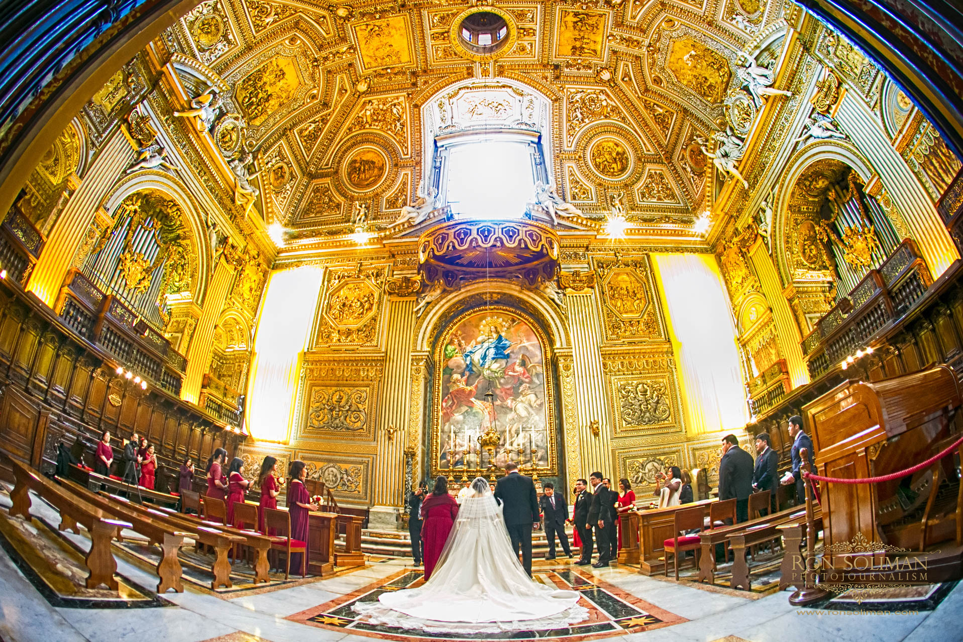 Cappella del Coro Vatican Wedding photos