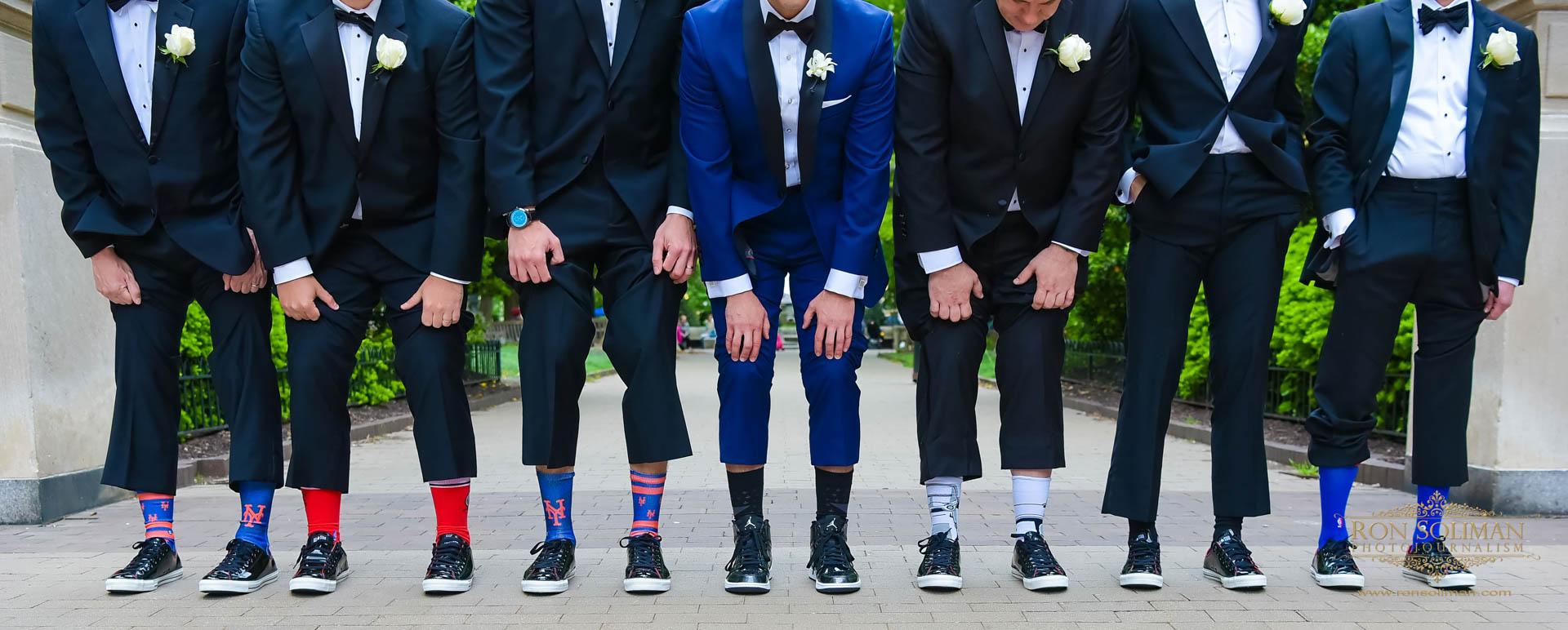 sports groomsman socks