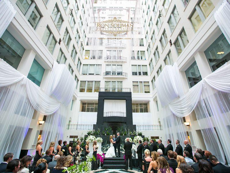 Atrium at Curtis Center Wedding | Michele + Jerry