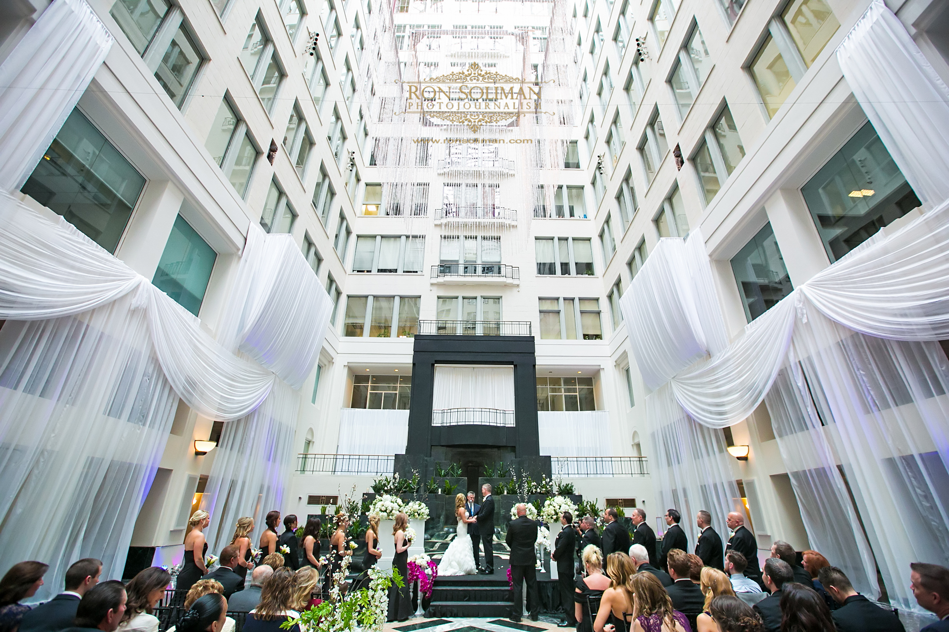 Atrium at Curtis Center Wedding | Michele + Jerry