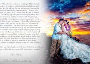 WEDDING STYLE MAGAZINE | PLATINUM LIST |RON SOLIMAN PHOTOJOURNALISM SELECTED